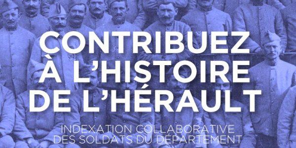 Une indexation collaborative des soldats de la Grande Guerre dans l'Hérault