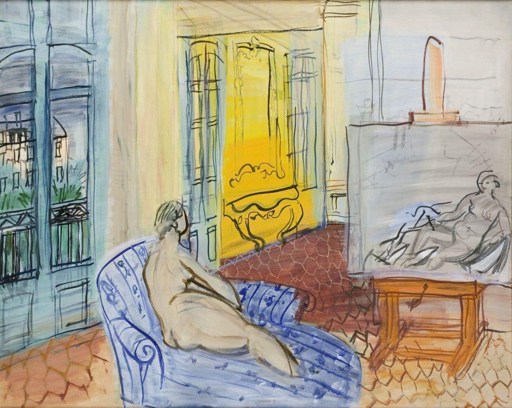 Le Modèle dans l'atelier, 1949, huile sur toile, Le Havre, musée d'Art moderne André-Malraux. © Florian Kleinefenn, MuMa Le Havre, ADAGP, Paris, 2018
