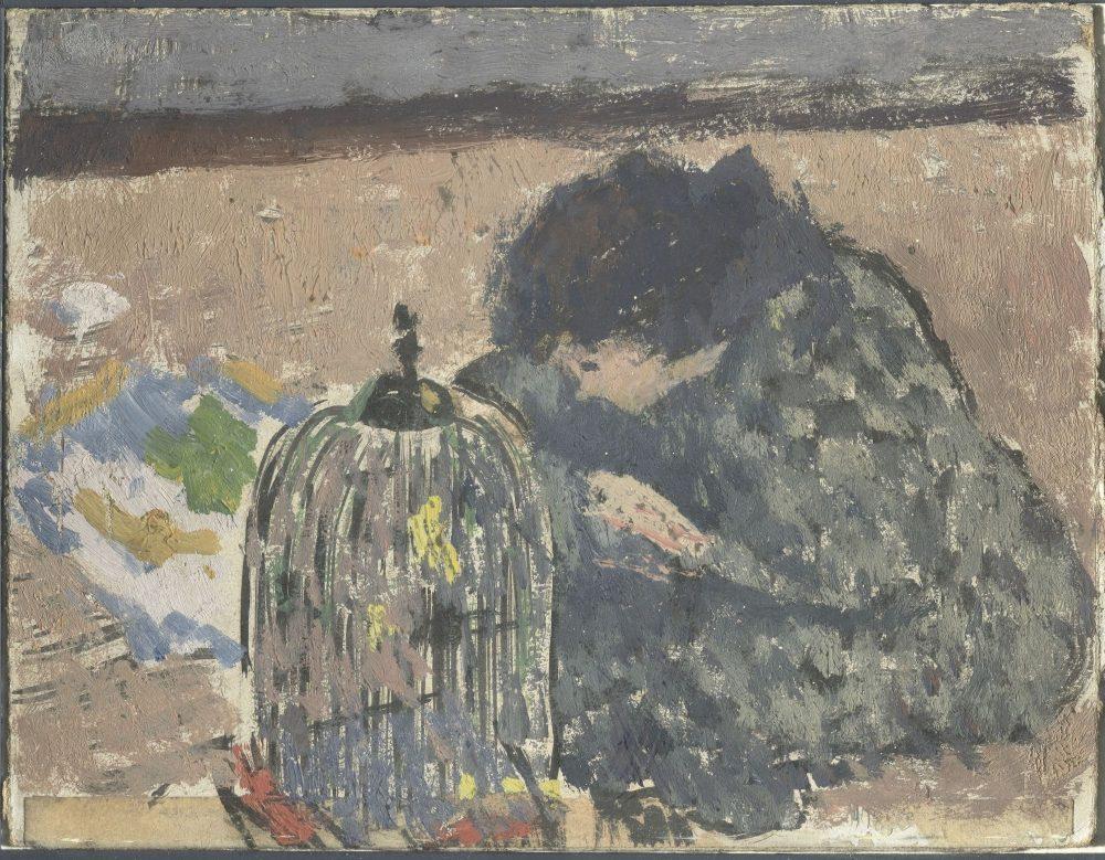 La Femme au serin, 1894, gouache et aquarelle sur papier, Paris, musée d'Orsay, don de Mme Jacqueline George-Besson, 1991. © Photographie Lewandowski, RMN-Grand Palais (musée d'Orsay)