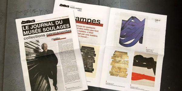 Le musée Soulagesà la une de son propre journal