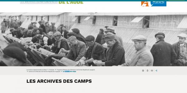 Archives des camps de réfugiés espagnols de l'Aude
